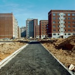 Wohngebietszentrum, an der Straße der Waffenbrüderschaft, 1987, Nachweis: © Harald Kirschner